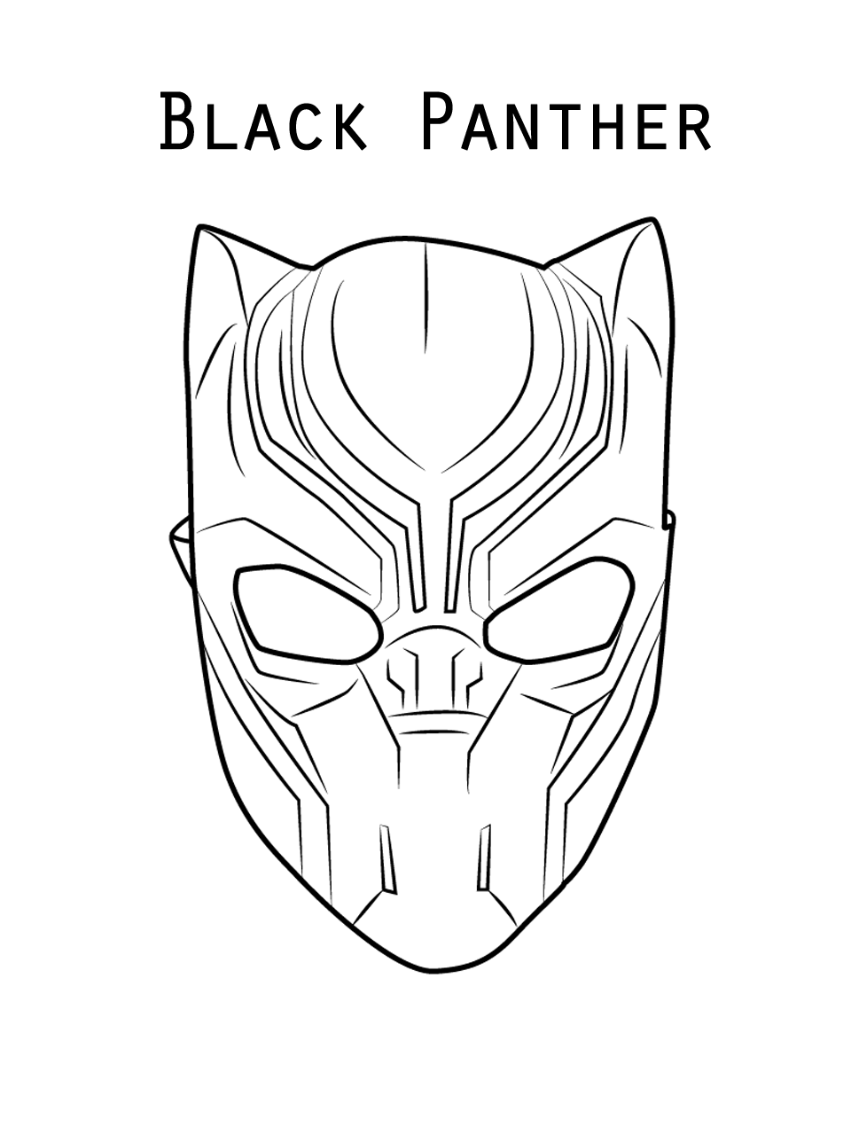 20 Free Printable Black Panther Coloring Pages Coloring