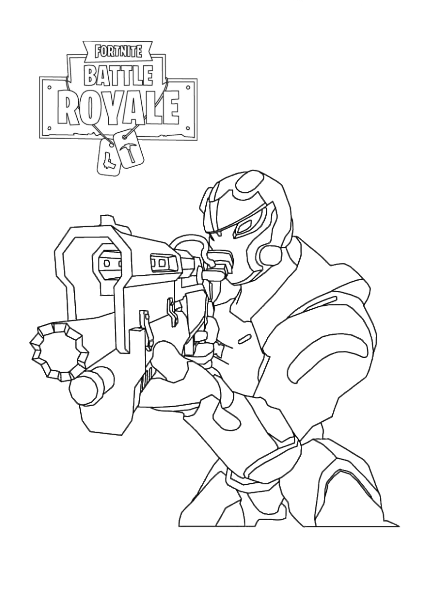 30 Free Printable Fortnite Coloring Pages - Coloring Junction