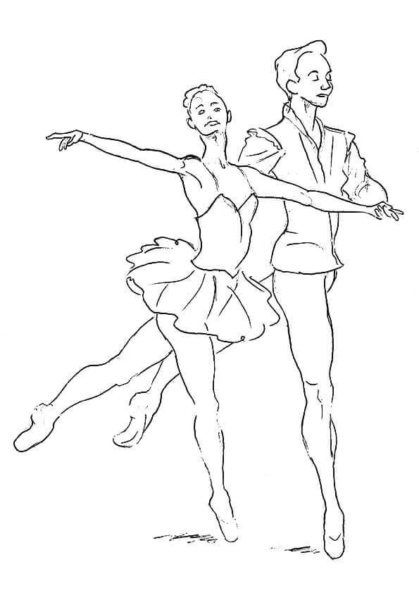 Free Ballerina Coloring Pages To