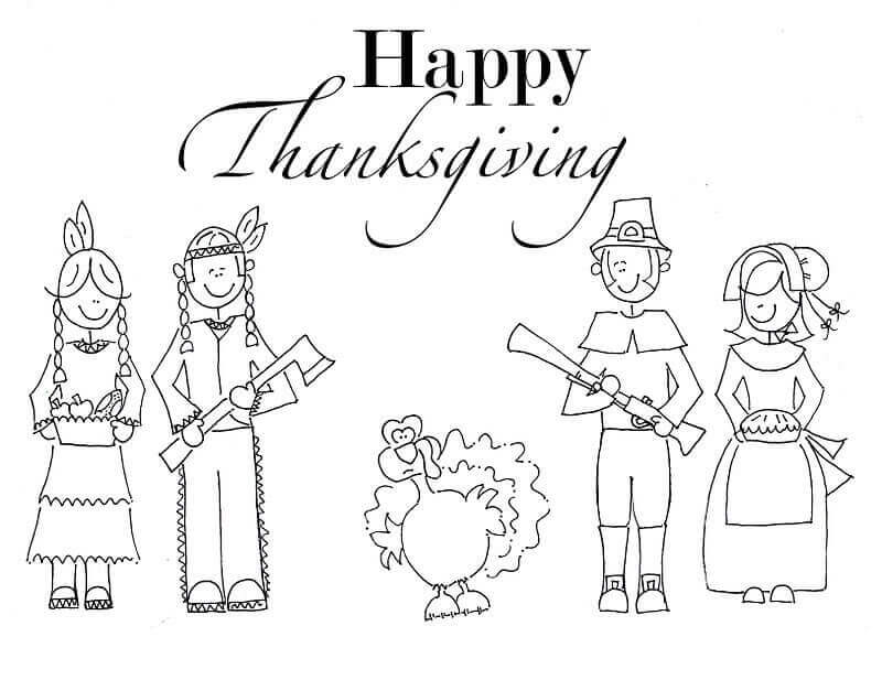 Coloring Pages Of 2018 Thanksgiving