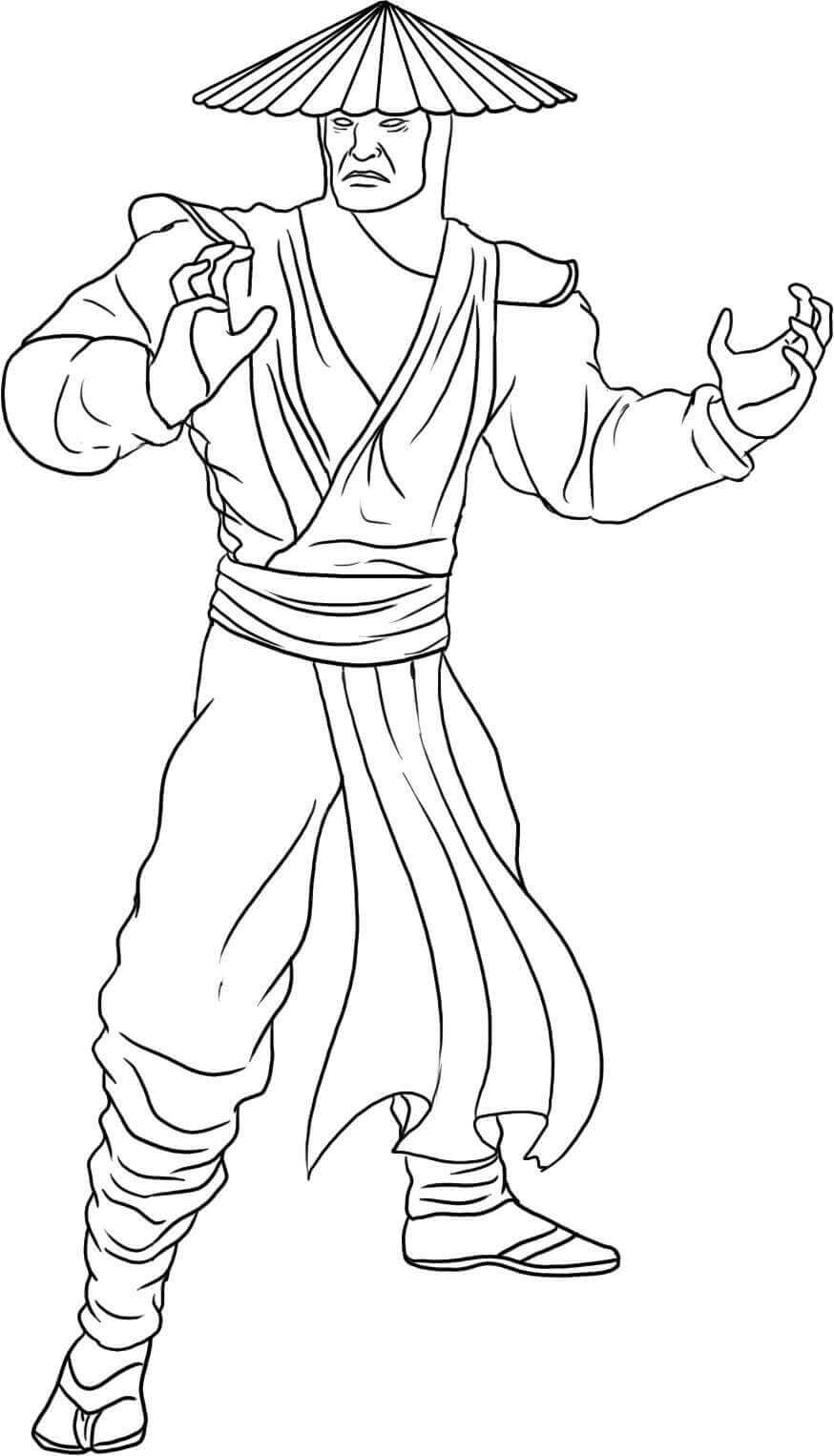 Free Mortal Kombat Coloring Pages
