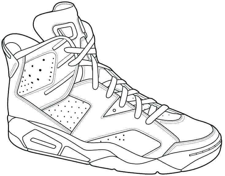 Free Printable Jordan Shoes Coloring Pages
