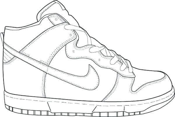 Jordan Sports Shoes Coloring Pages To Print
