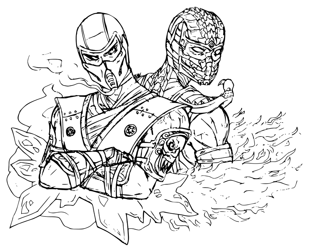 Mortal Kombat Coloring Book