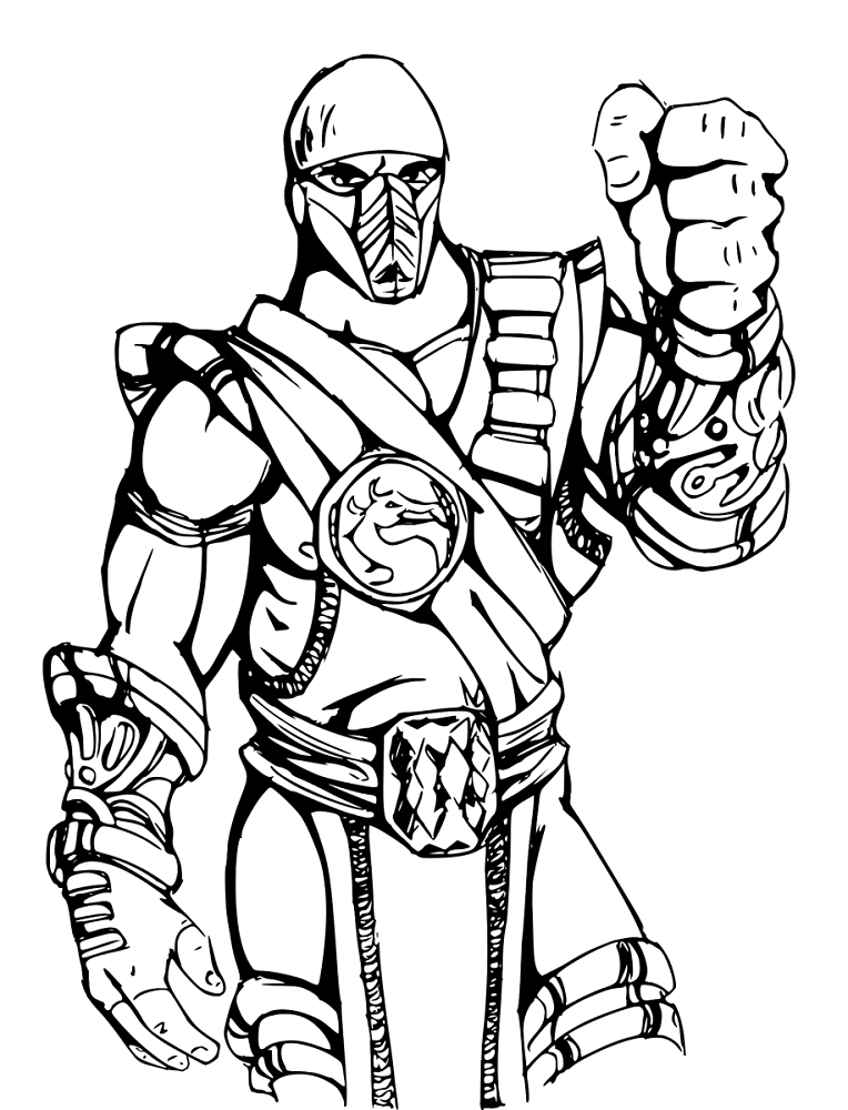 Mortal Kombat Coloring Page For Kids