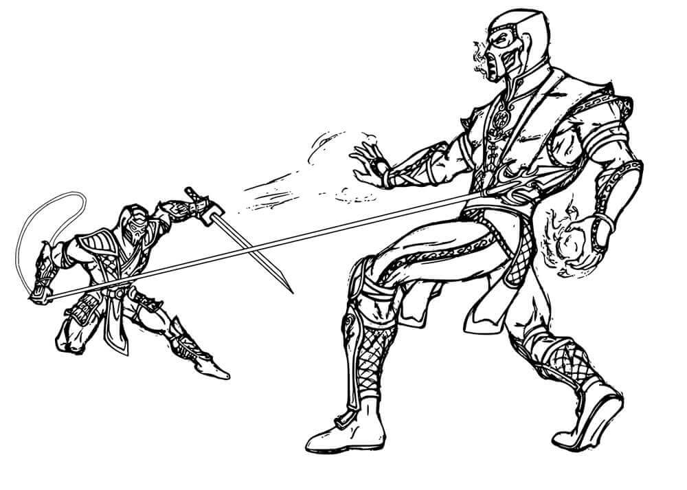 Mortal Kombat Coloring Pages To Print