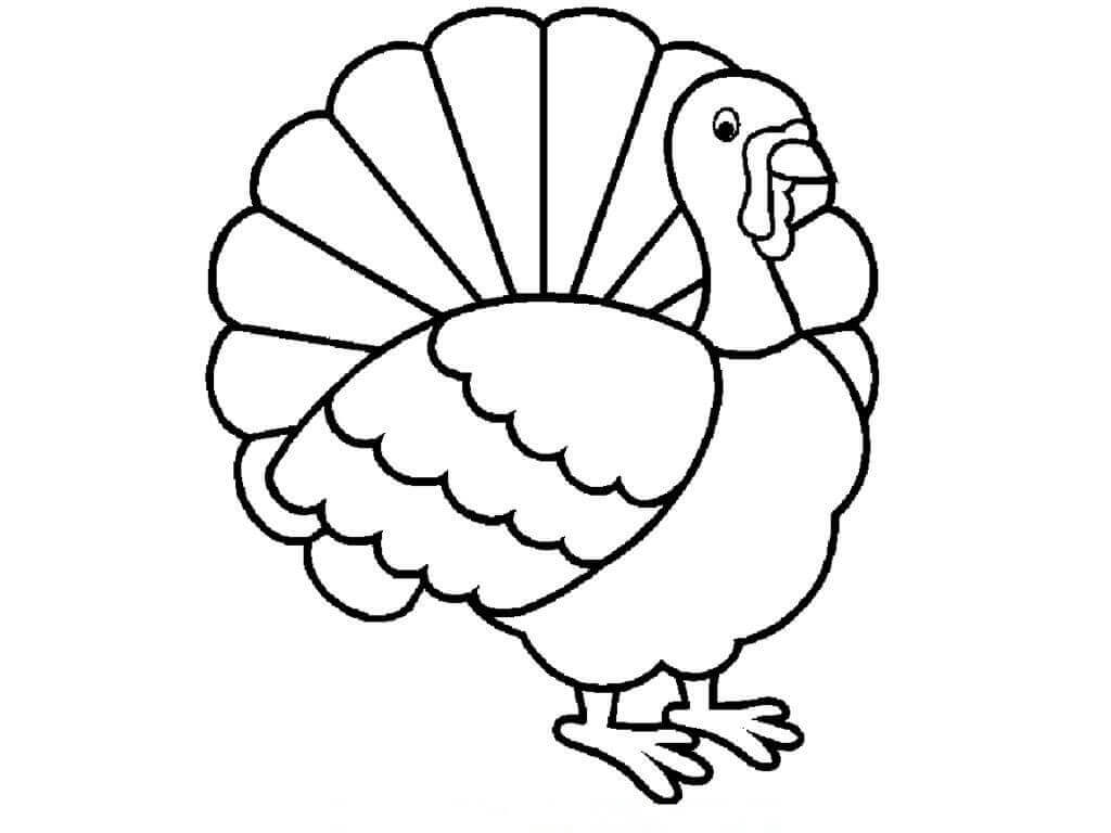 Thanksgiving 2018 Turkey Coloring Page