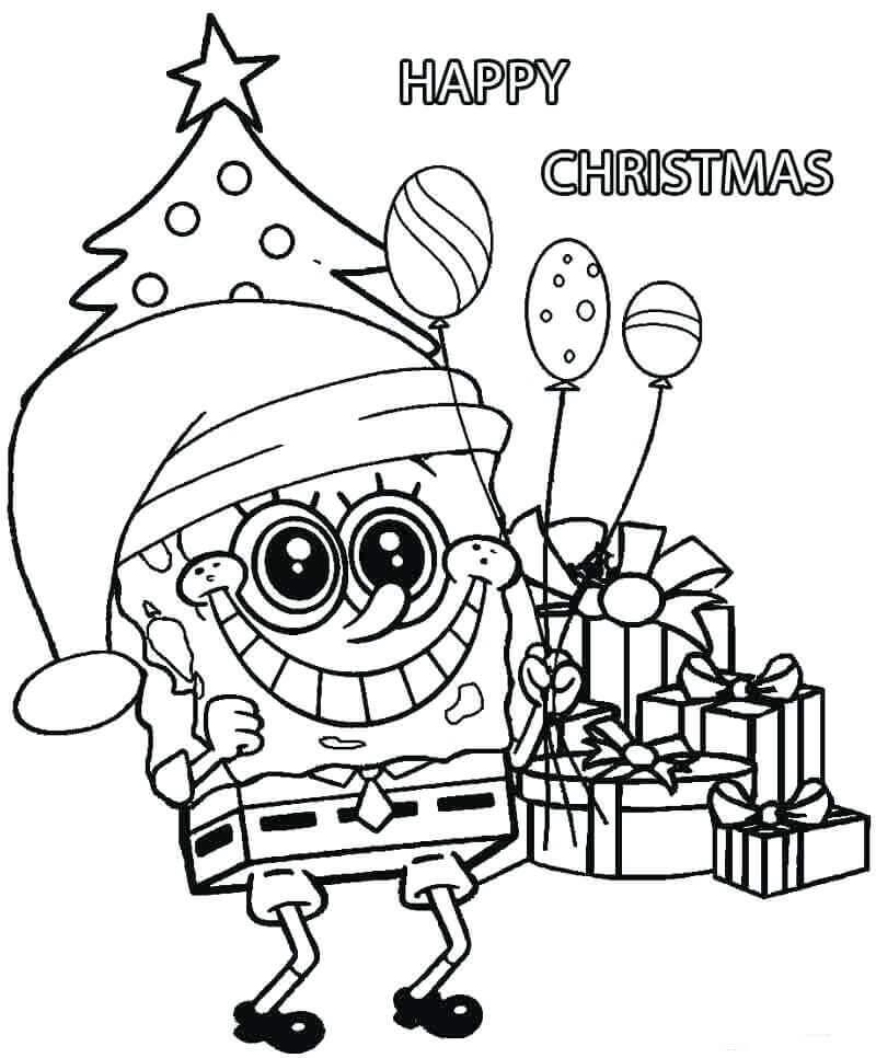 Happy Christmas Coloring Pictures To Print