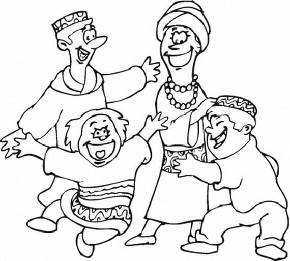 Kwanzaa Dance Coloring Page