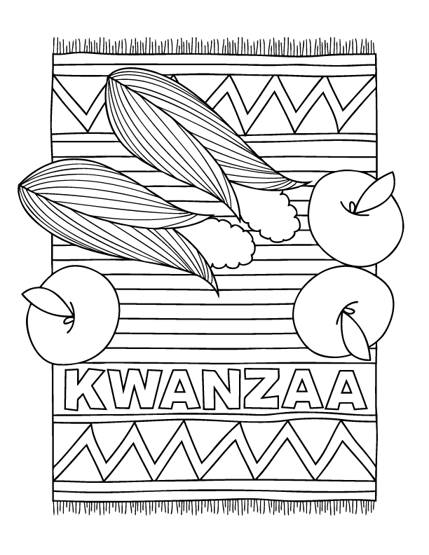 Kwanzaa Food Coloring Pages