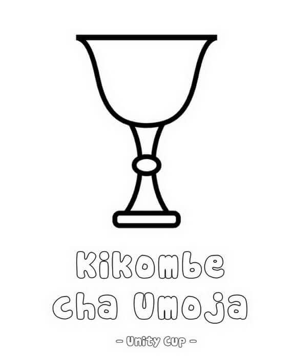 Kwanzaa Unity Cup Coloring Page