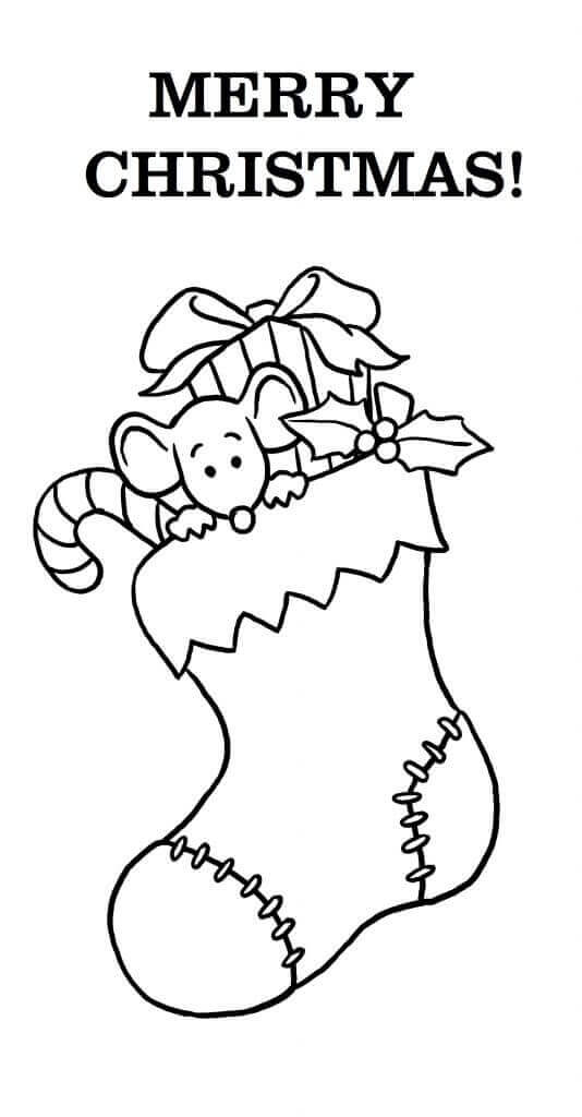 Merry Christmas Coloring Pages Free