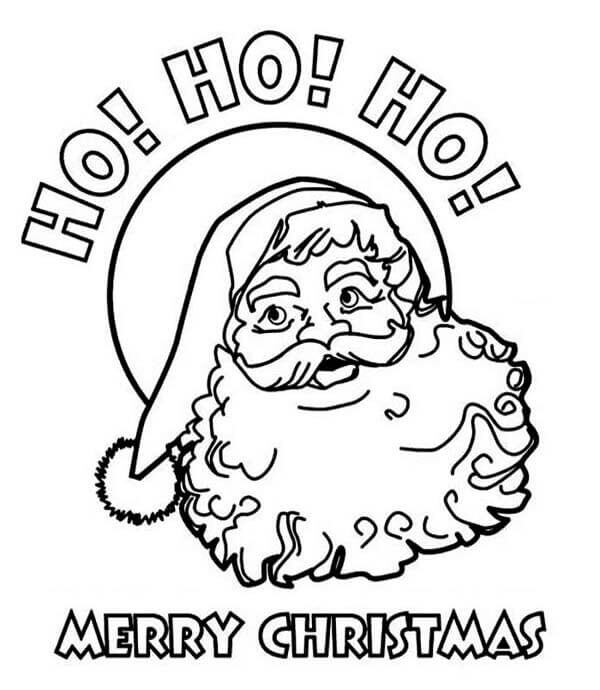 Merry Xmas Coloring Pictures To Print