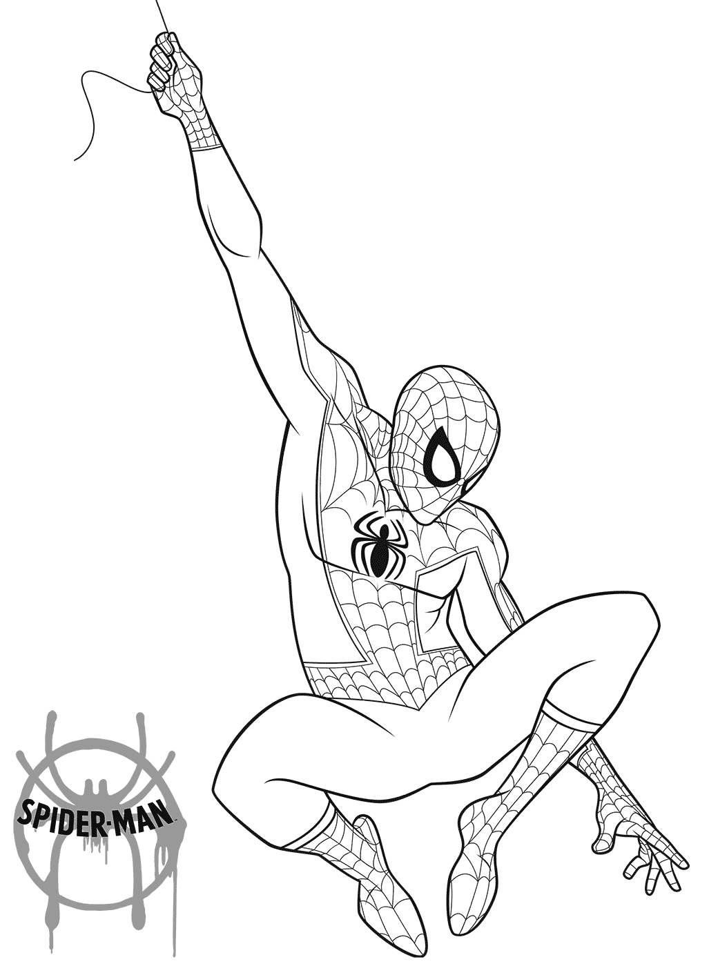 Free Printable Spider Man Into The Spider Verse Coloring Pages