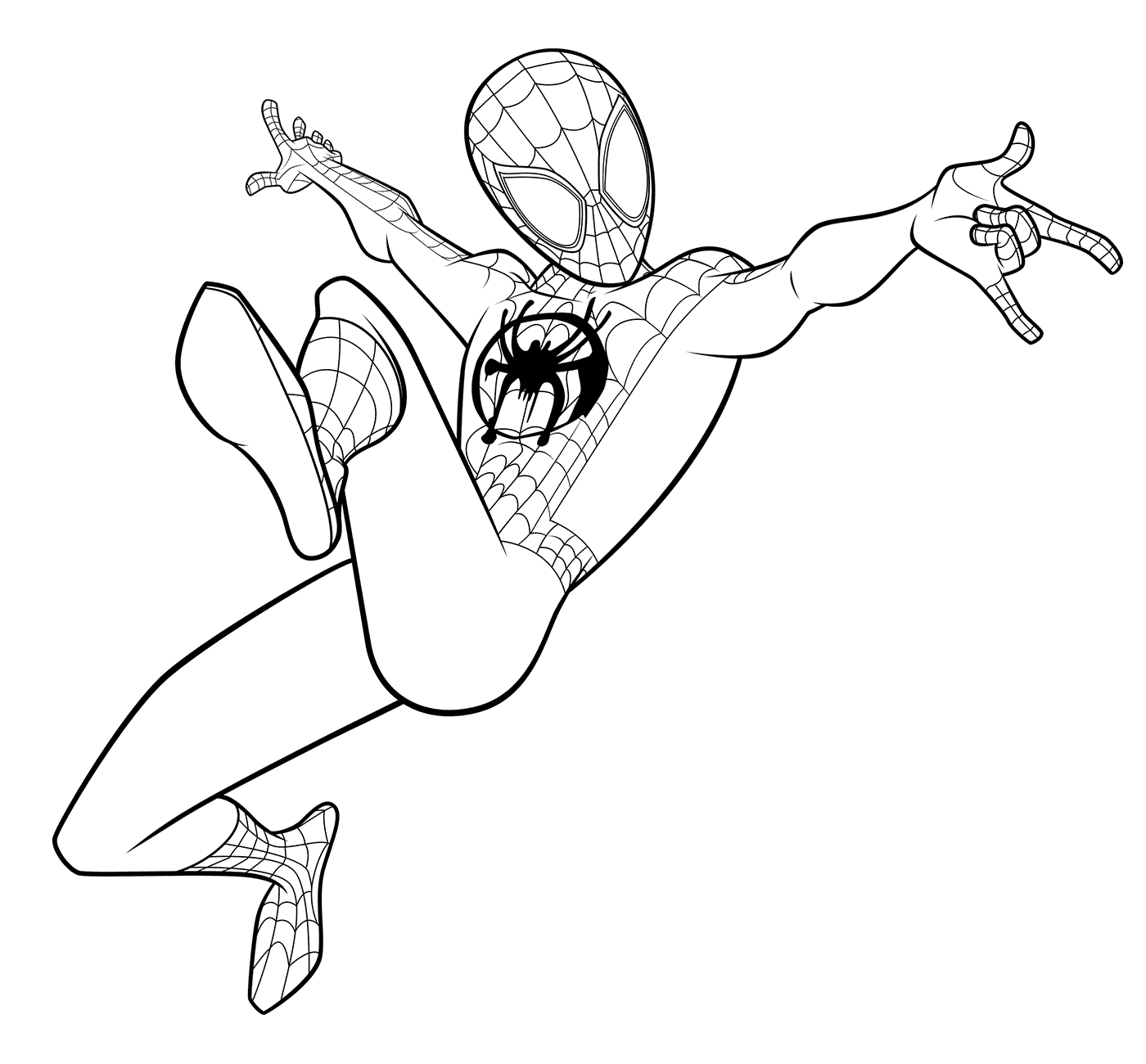 Miles Morales Spiderman Coloring Page