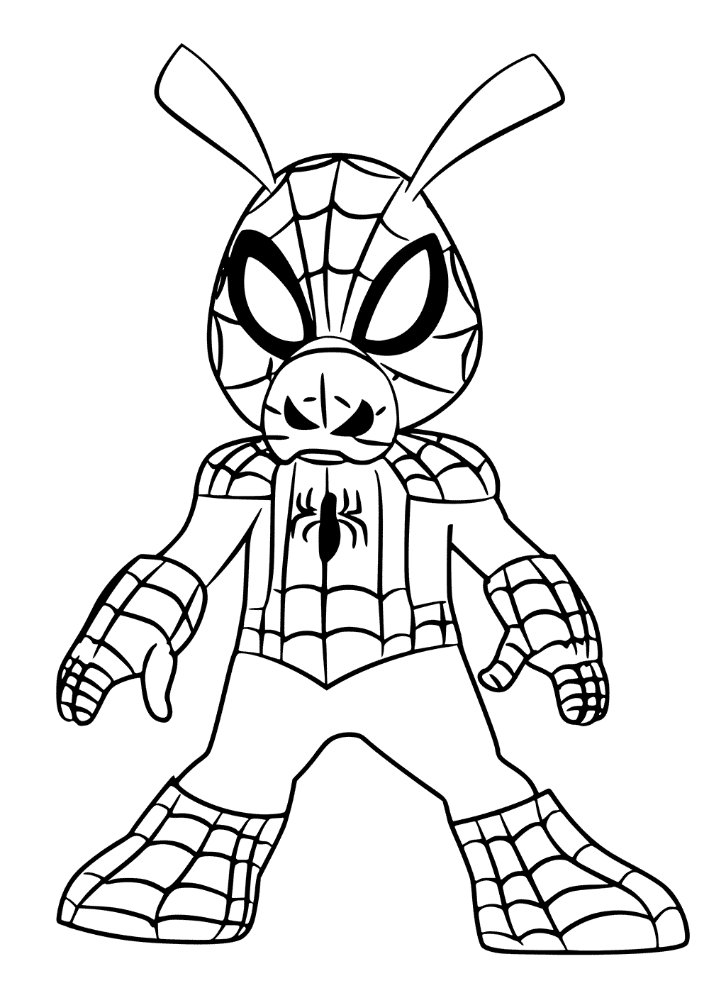 Free Spider-Man Into the Spider-Verse Coloring Pages ...