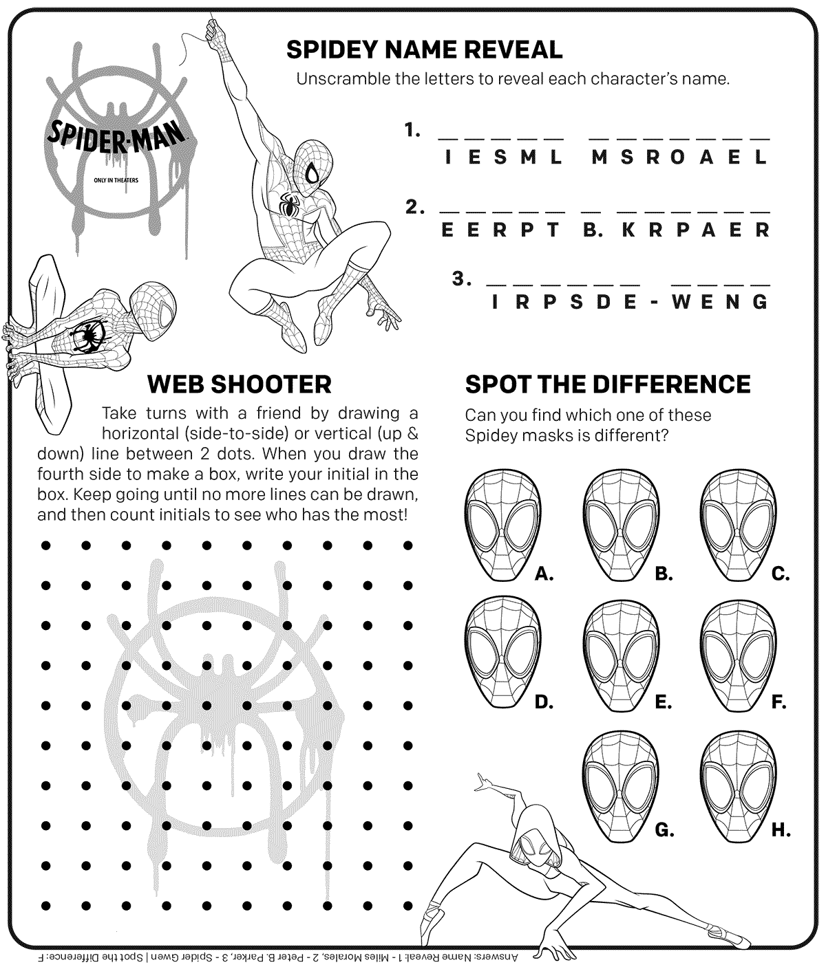 Free Spider Man Into The Spider Verse Coloring Pages