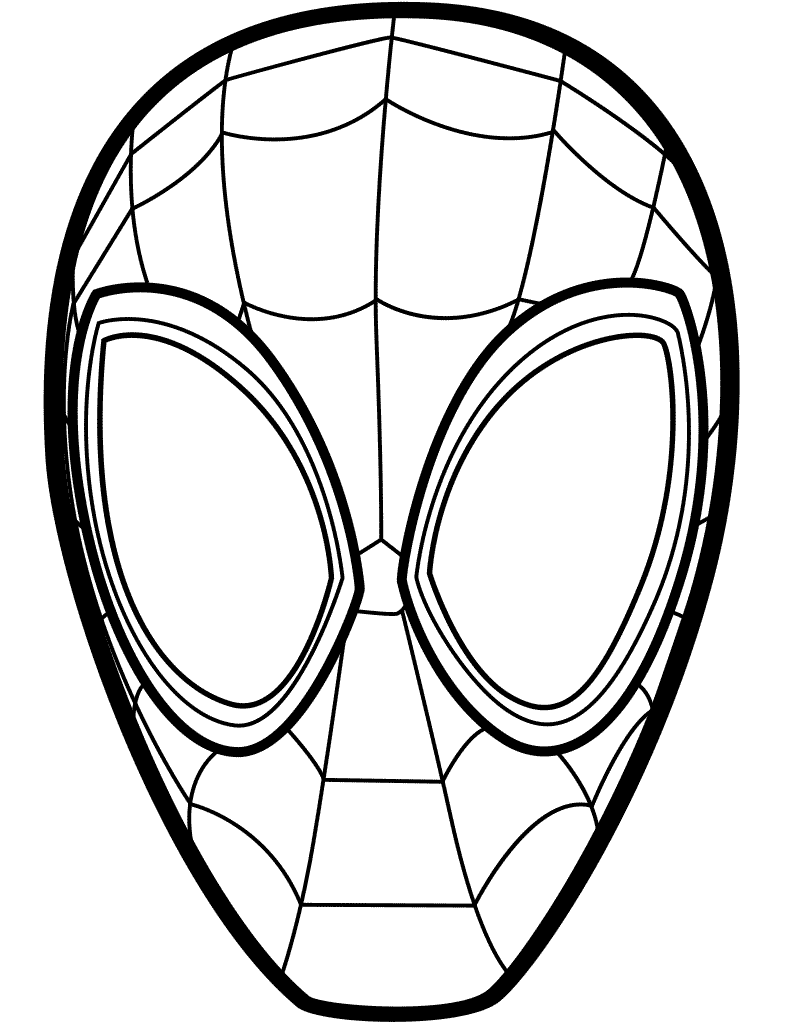 graphic regarding Spiderman Mask Printable titled No cost Spider-Male Into the Spider-Verse Coloring Web pages