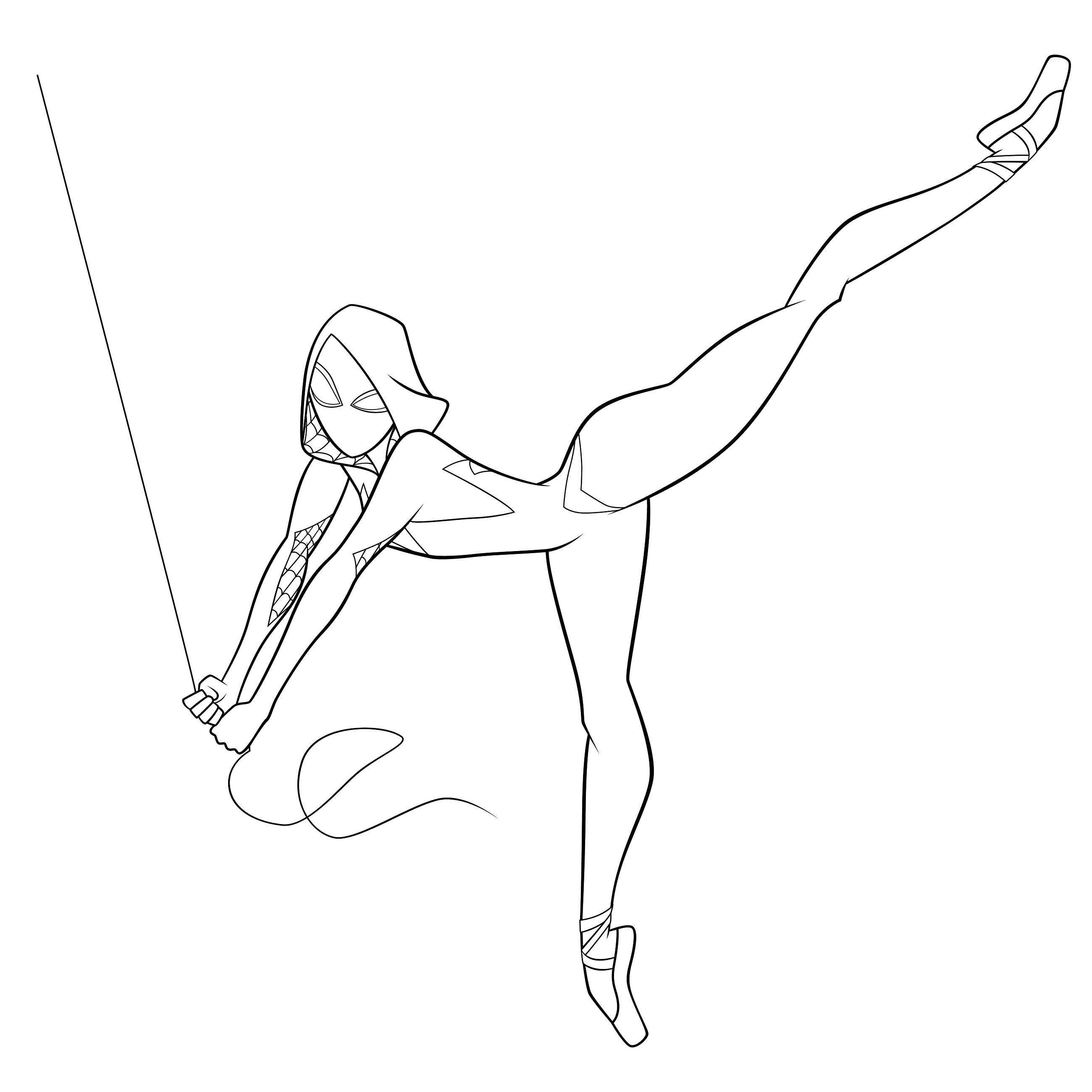Spider Woman Gwen Coloring Page