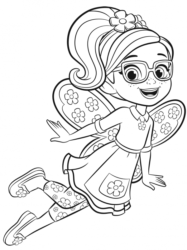 Butterbeans Cafe Poppy Coloring Picture