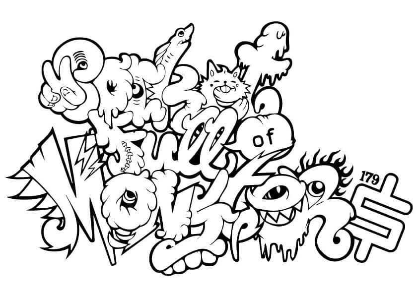 Graffiti pages to color