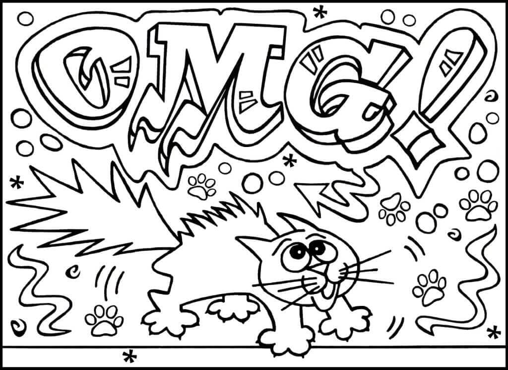 Halloween Graffiti coloring page
