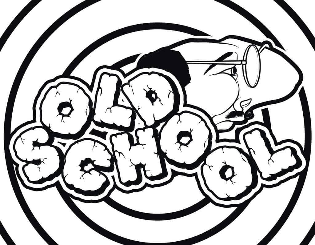 Old School Graffiti Coloring Page