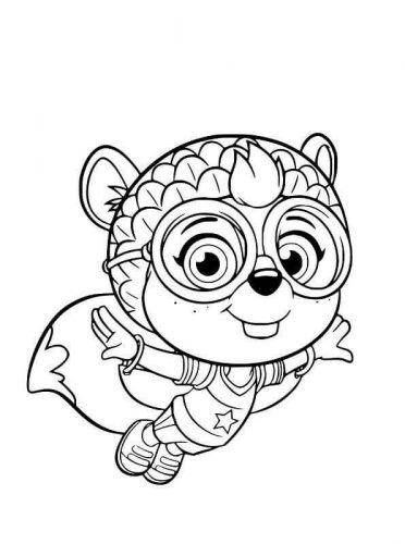 Shirley Squirrely From Top Wing