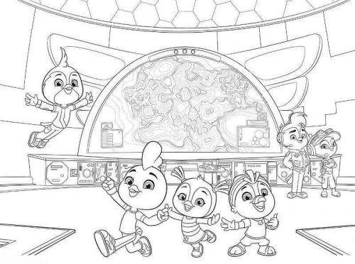 Top Wing Academy Coloring Page